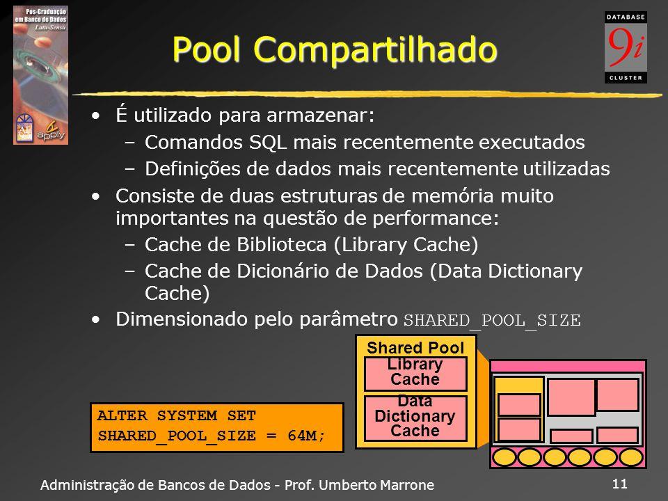 Pool Compartilhado É utilizado para armazenar: