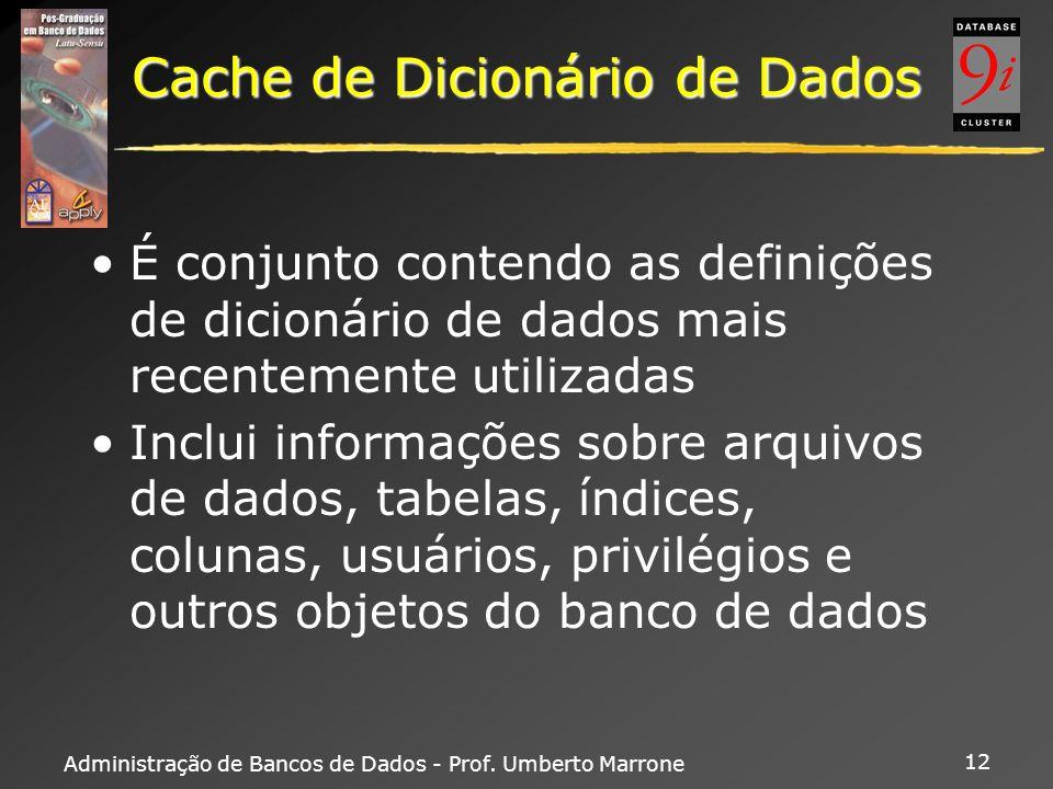 Cache de Dicionário de Dados
