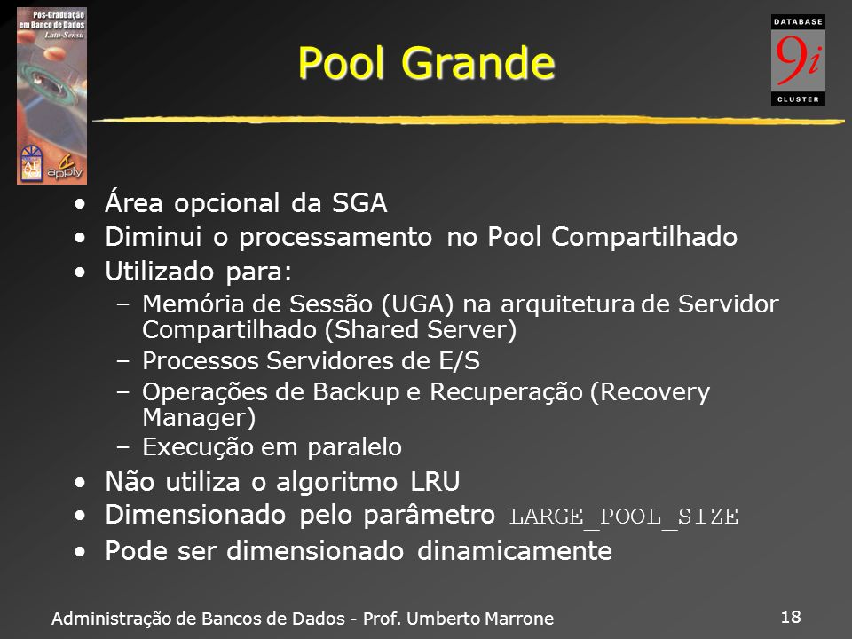 Pool Grande Área opcional da SGA