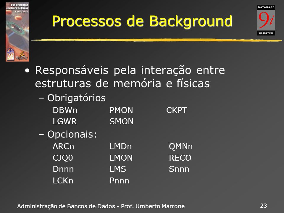 Processos de Background