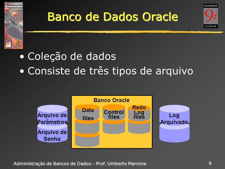 Banco de Dados Oracle Coleção de dados