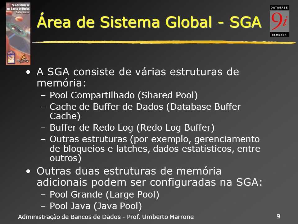 Área de Sistema Global - SGA