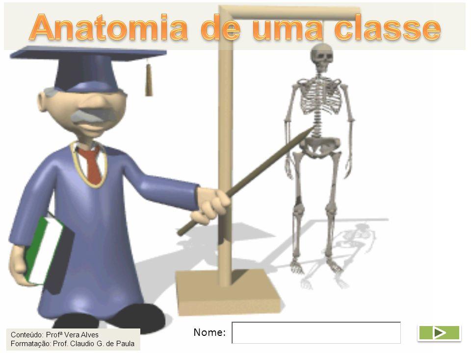 Anatomia de uma classe Nome:
