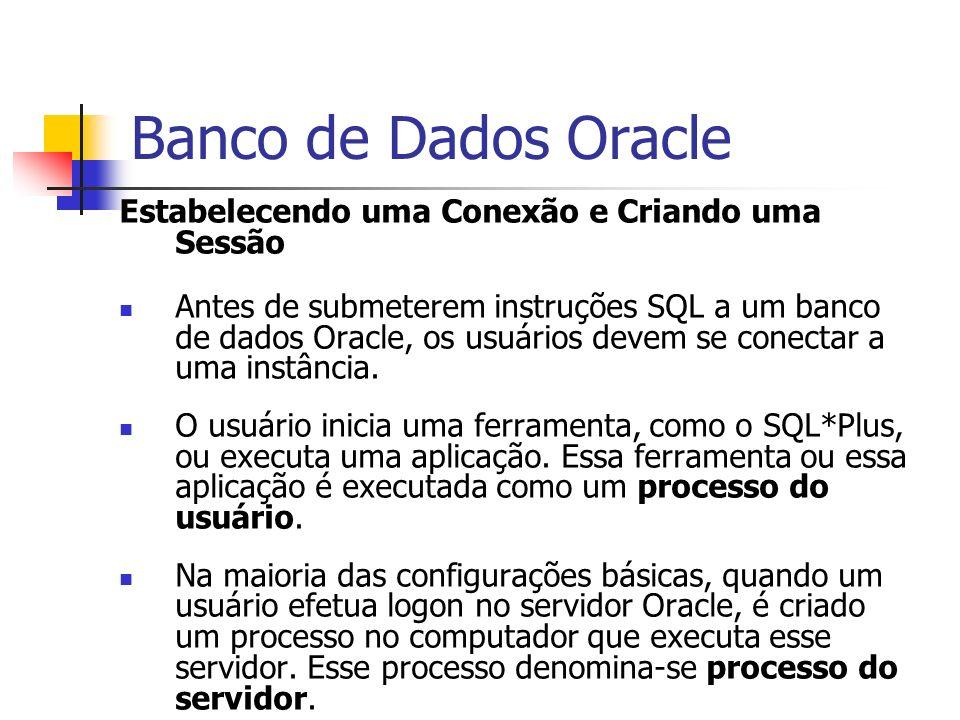 Banco de Dados Oracle Estabelecendo uma Conexão e Criando uma Sessão
