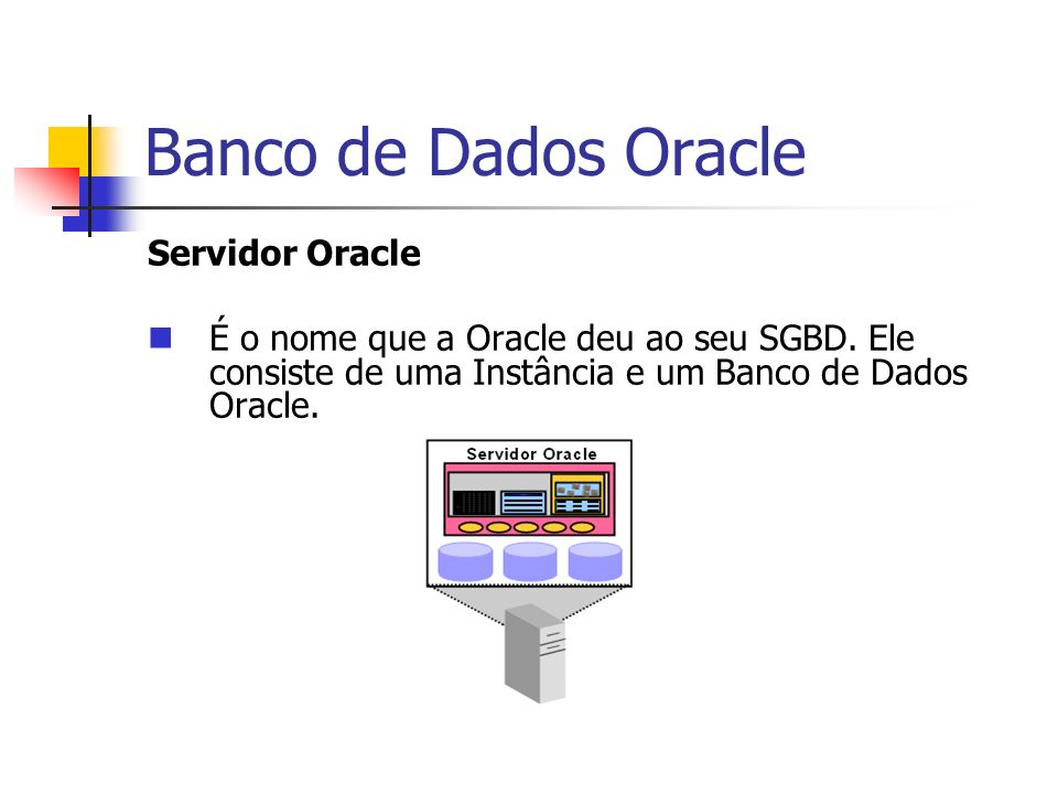 Banco de Dados Oracle Servidor Oracle