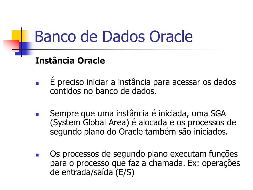 Banco de Dados Oracle Instância Oracle