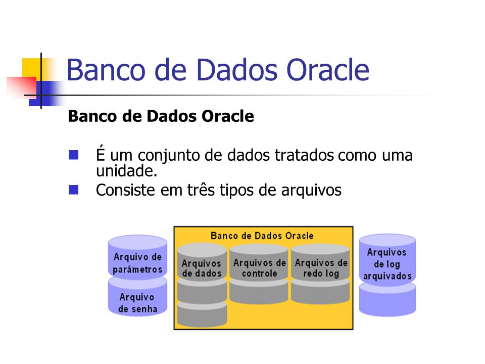 Banco de Dados Oracle Banco de Dados Oracle