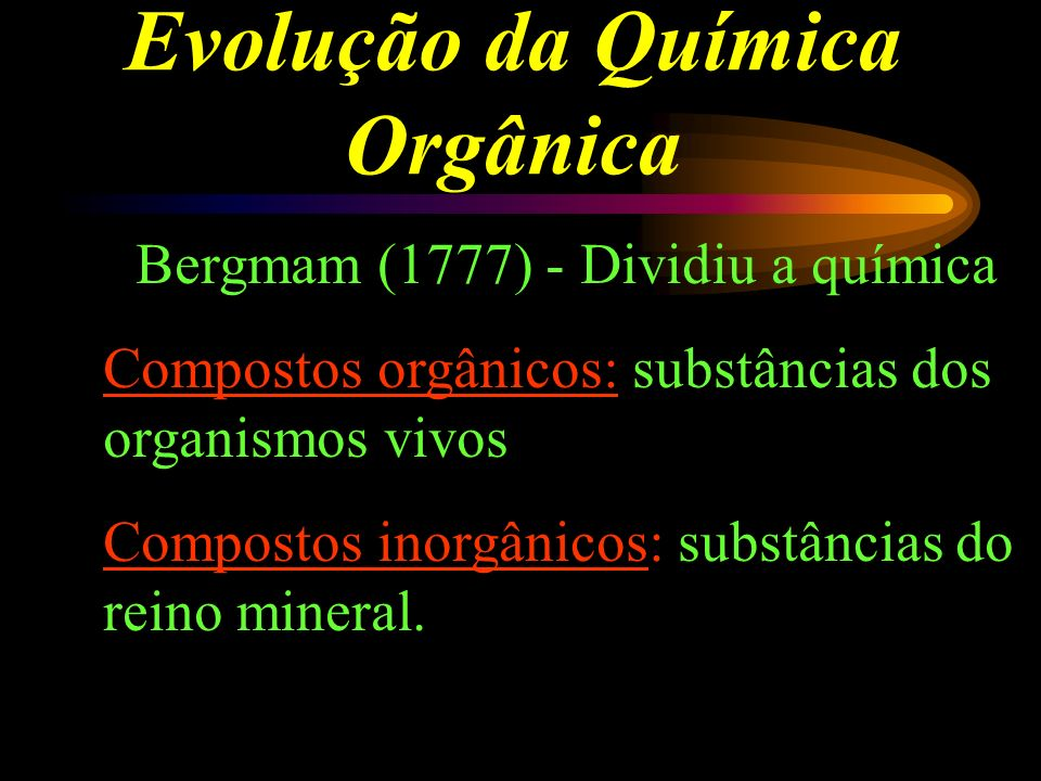 Evolução da Química Orgânica