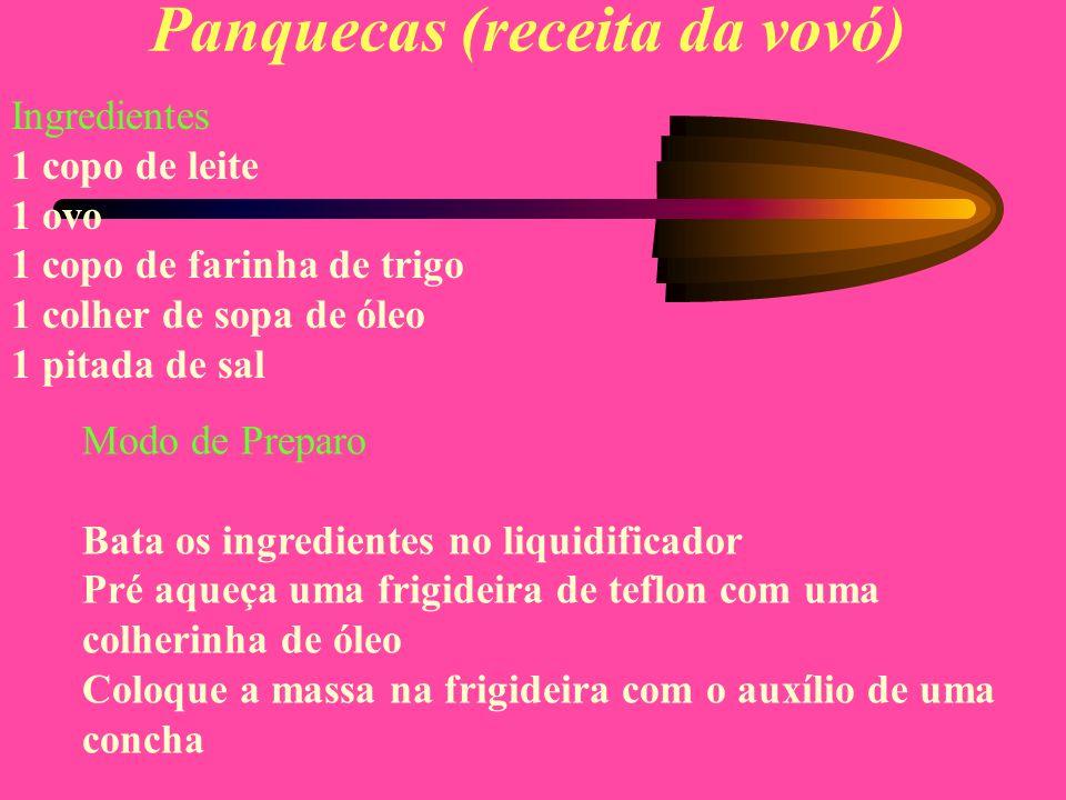 Panquecas (receita da vovó)