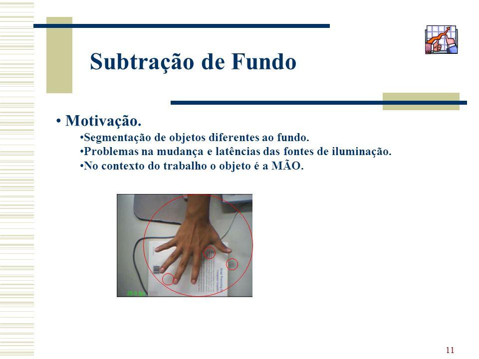Subtração de Fundo Motivação.