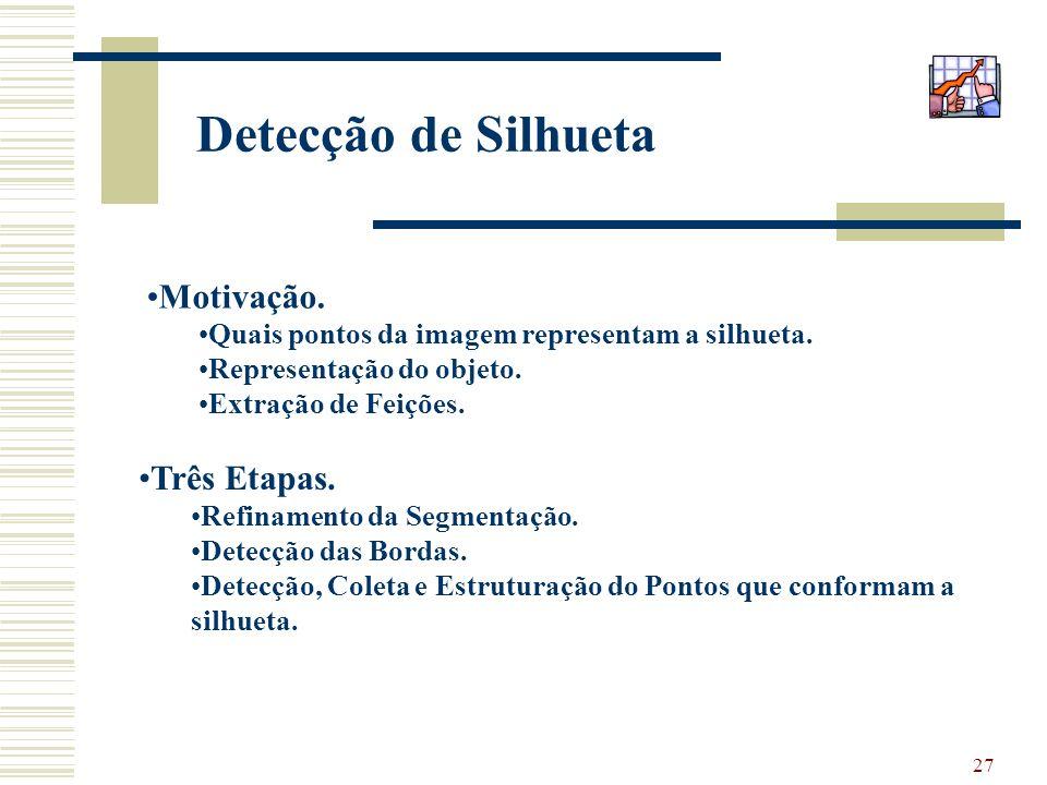 Detecção de Silhueta Motivação. Três Etapas.