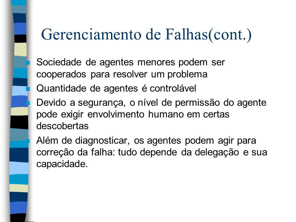 Gerenciamento de Falhas(cont.)