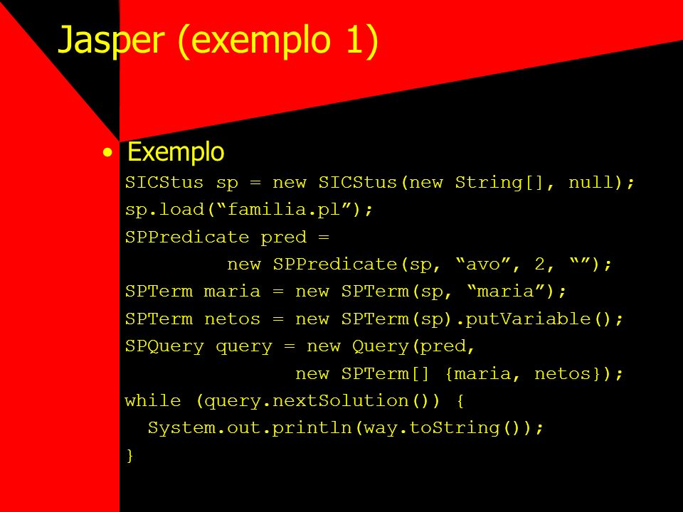 Jasper (exemplo 1) Exemplo
