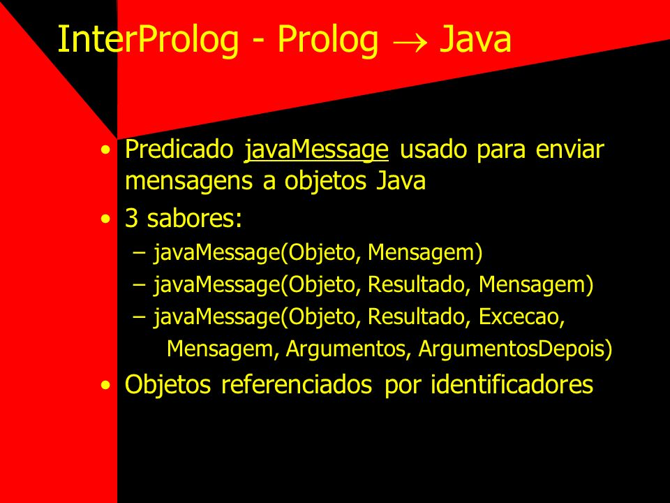 InterProlog - Prolog  Java