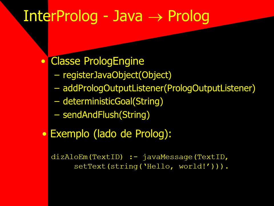 InterProlog - Java  Prolog