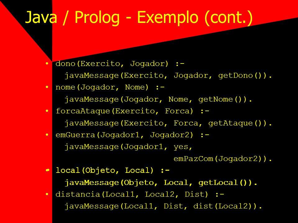 Java / Prolog - Exemplo (cont.)