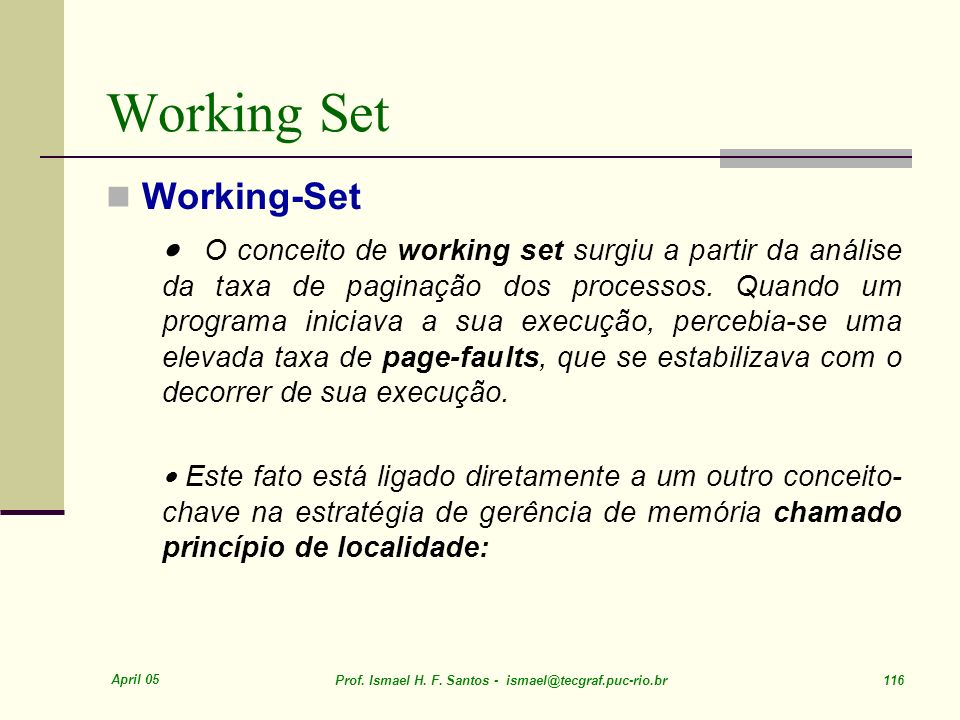 Working Set Working-Set