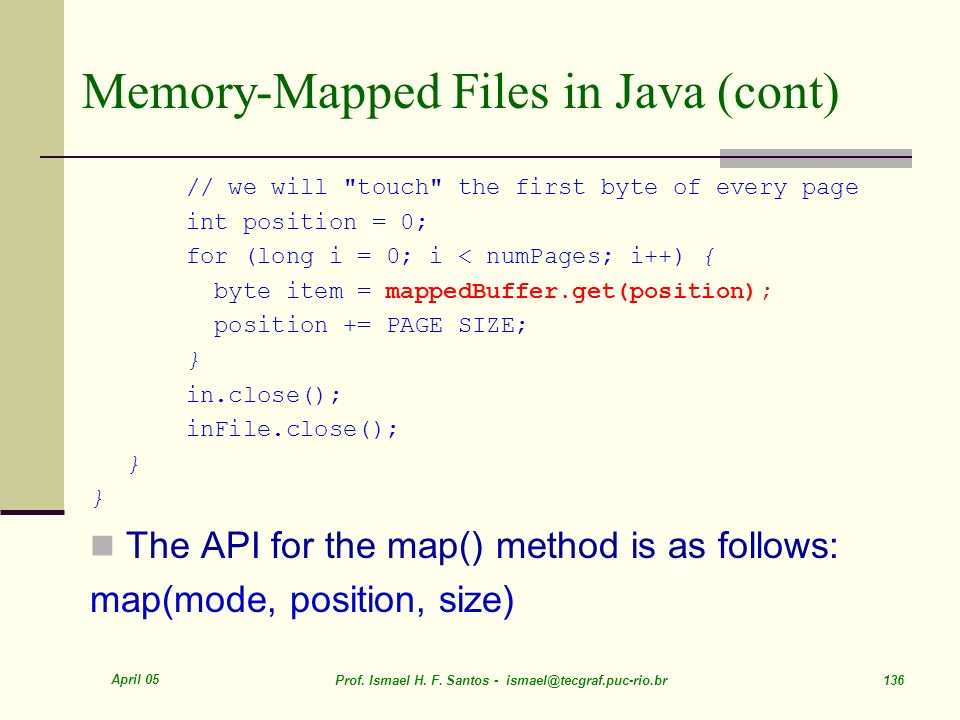 Memory-Mapped Files in Java (cont)