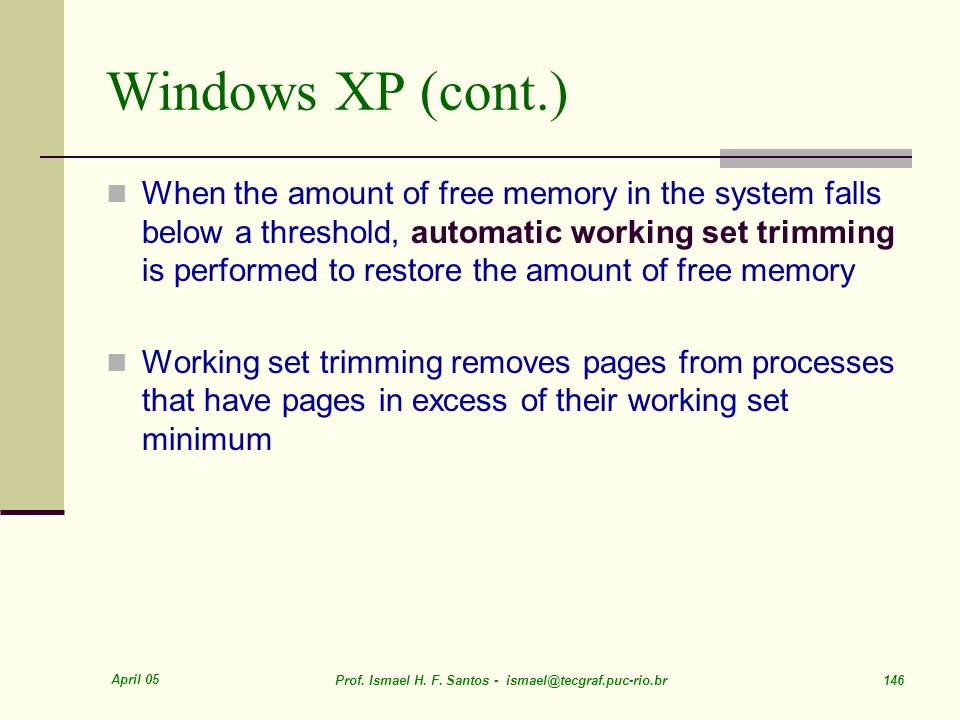 Windows XP (cont.)