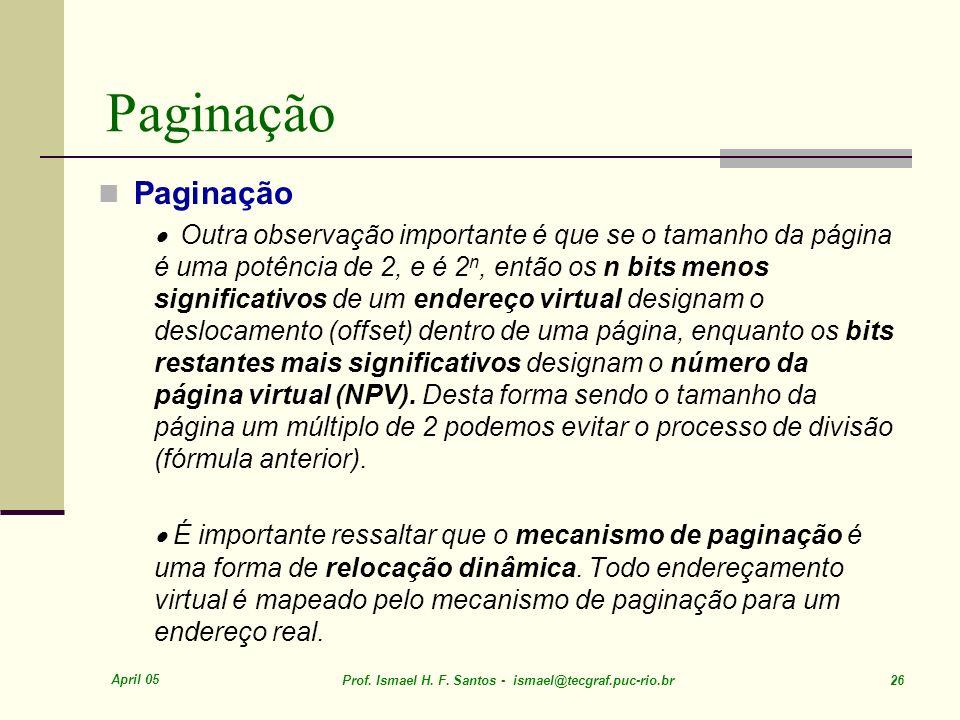 Paginação Paginação.