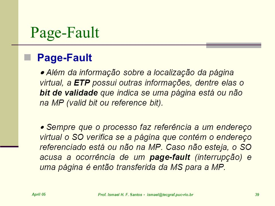 Page-Fault Page-Fault