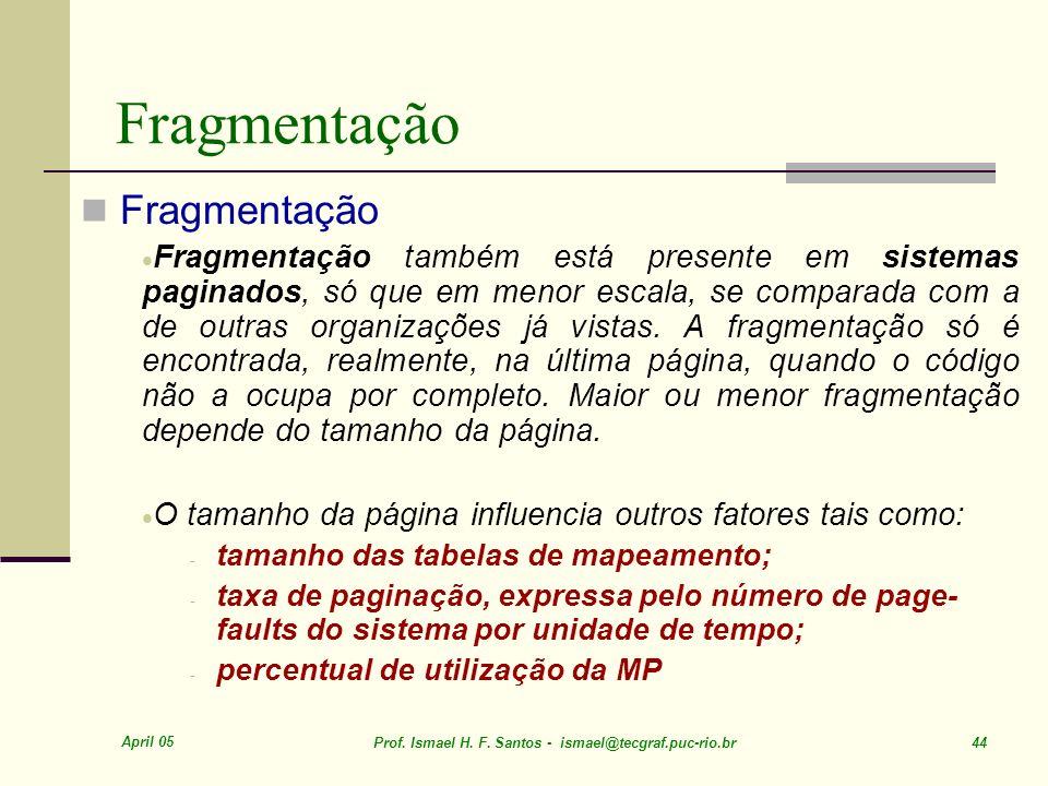 Fragmentação Fragmentação
