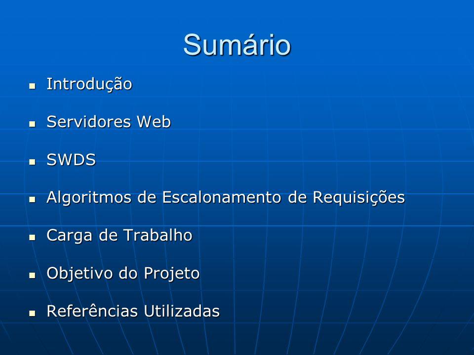 Sumário Introdução Servidores Web SWDS