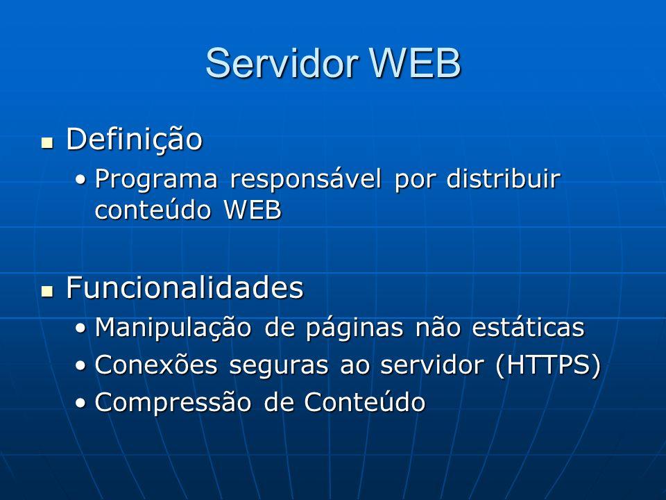 Servidor WEB Definição Funcionalidades