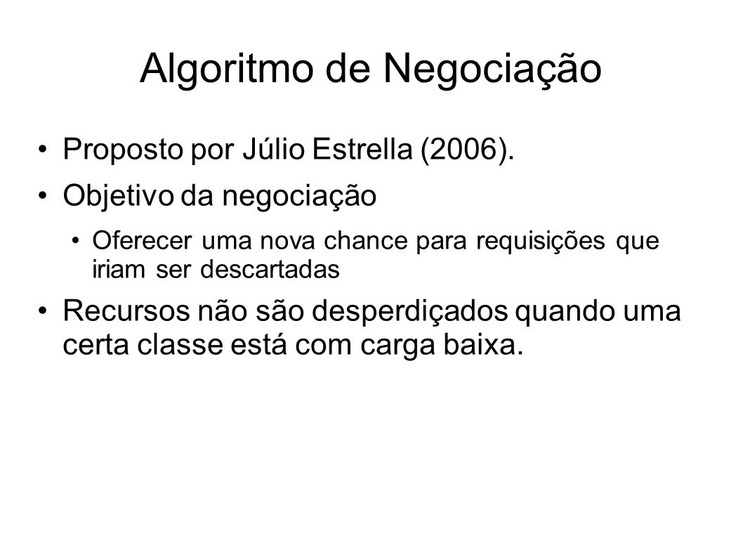 Algoritmo de Negociação