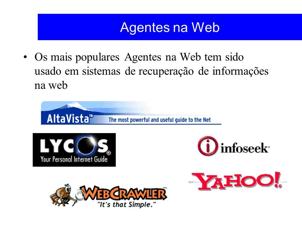 Agentes na Web Os mais populares Agentes na Web tem sido usado em sistemas de recuperação de informações na web.