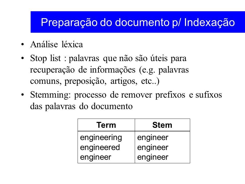Preparação do documento p/ Indexação