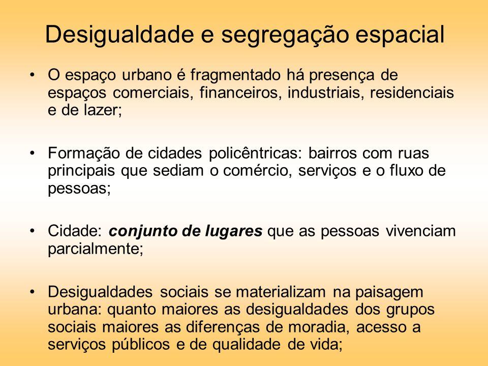 Desigualdade e segregação espacial