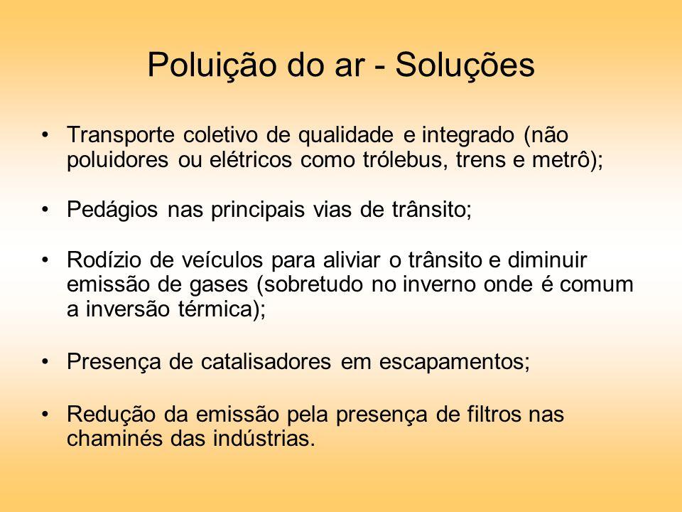 Poluição do ar - Soluções