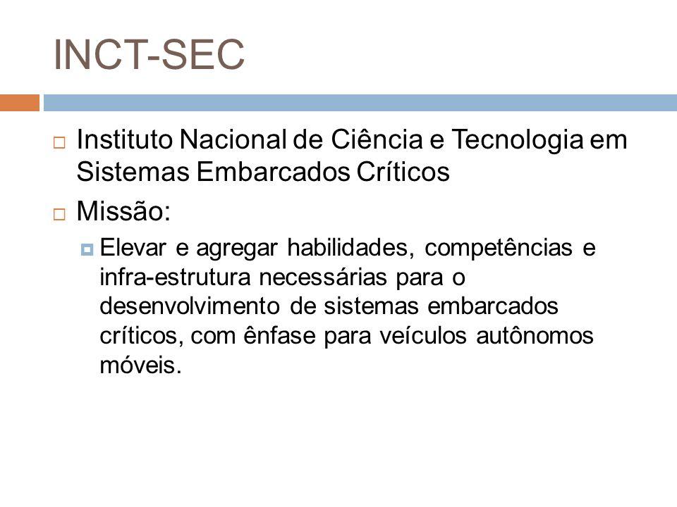 INCT-SEC Instituto Nacional de Ciência e Tecnologia em Sistemas Embarcados Críticos. Missão: