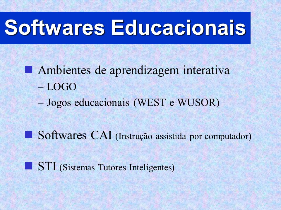 Softwares Educacionais