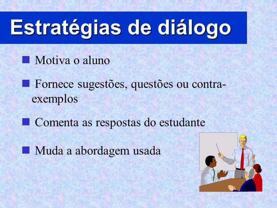 Estratégias de diálogo