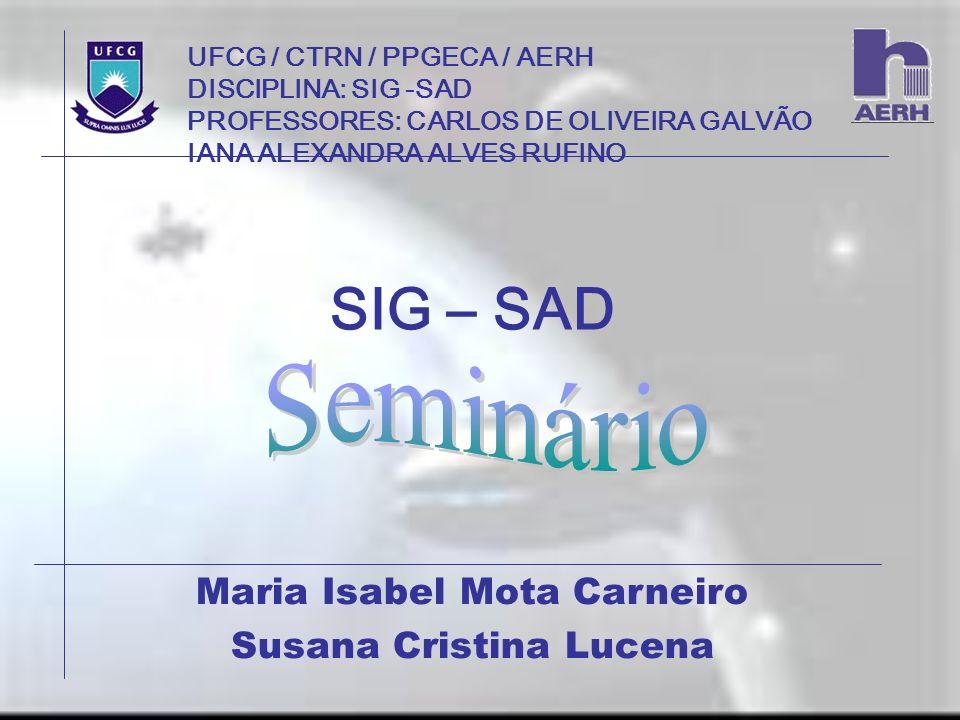 SIG – SAD Seminário Maria Isabel Mota Carneiro Susana Cristina Lucena