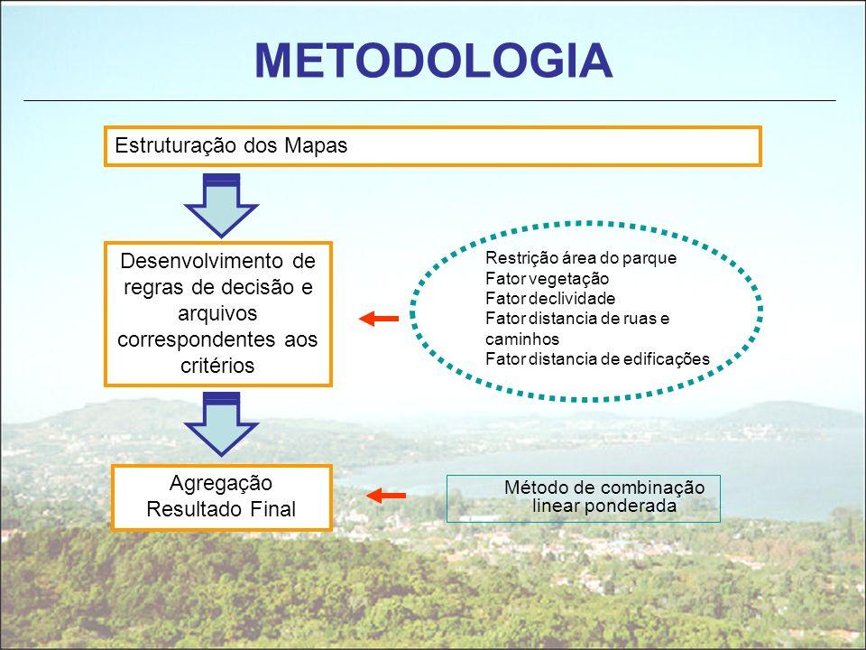METODOLOGIA Estruturação dos Mapas