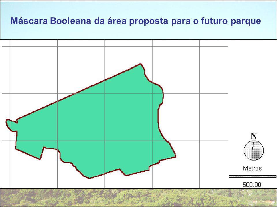 Máscara Booleana da área proposta para o futuro parque