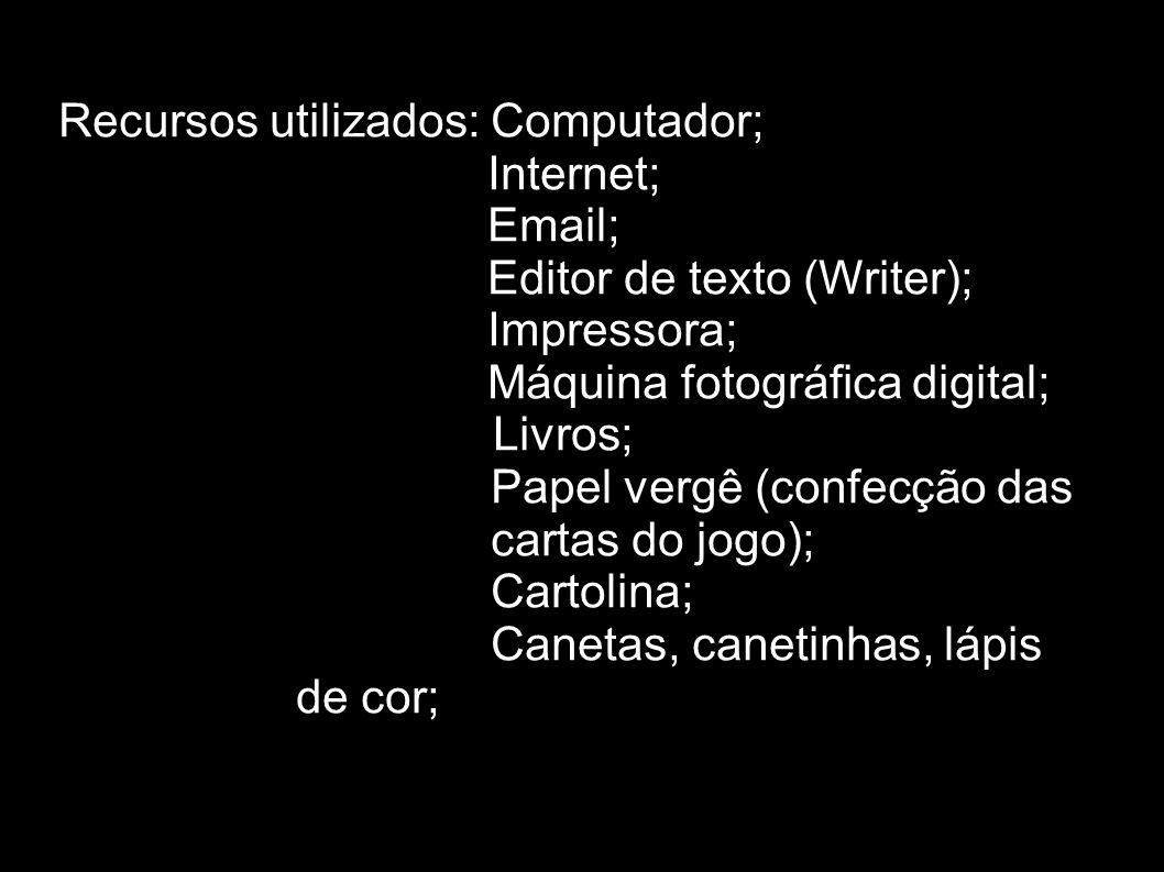 Recursos utilizados: Computador;