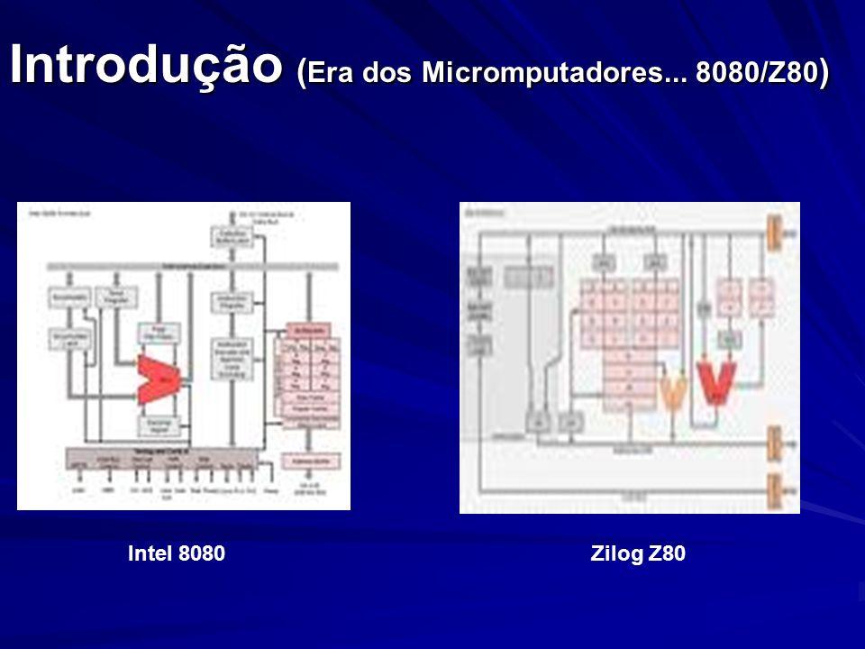 Introdução (Era dos Micromputadores... 8080/Z80)