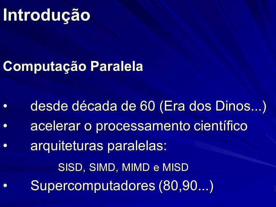 Introdução Computação Paralela desde década de 60 (Era dos Dinos...)
