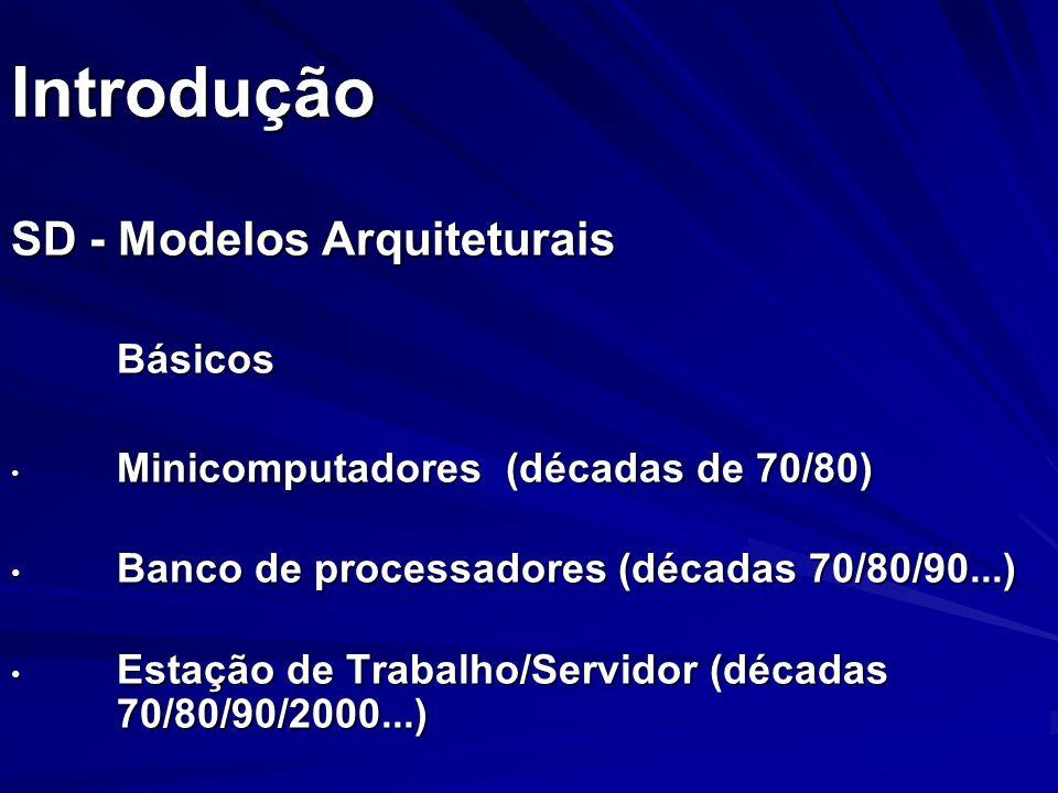 Introdução SD - Modelos Arquiteturais Básicos