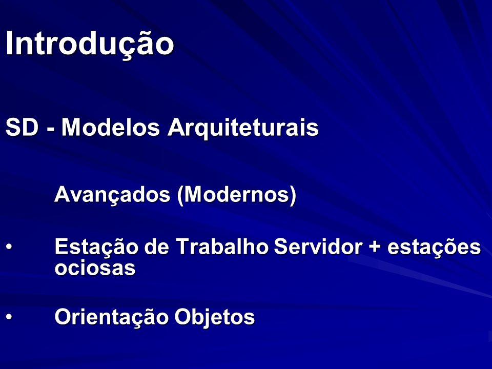 Introdução SD - Modelos Arquiteturais