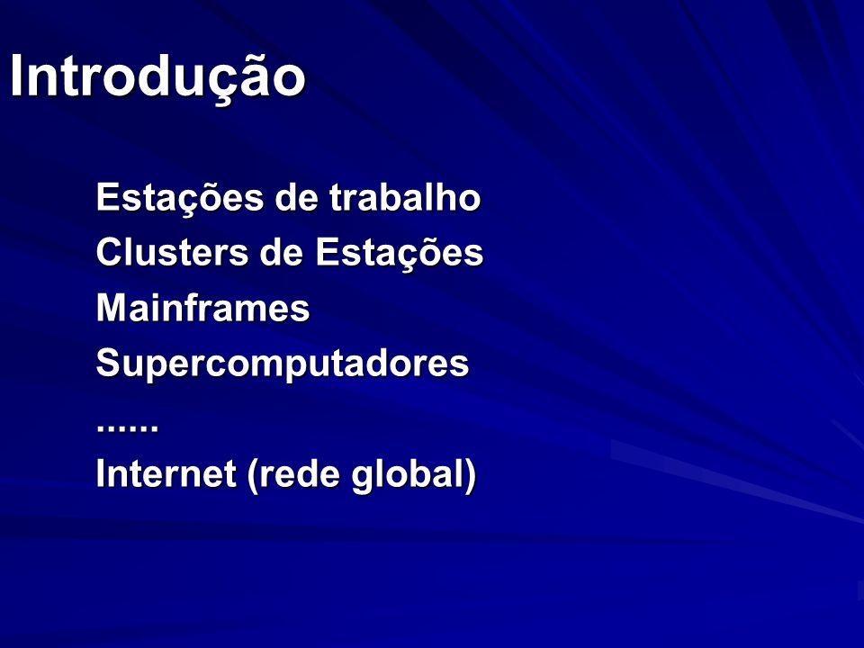 Introdução Estações de trabalho Clusters de Estações Mainframes