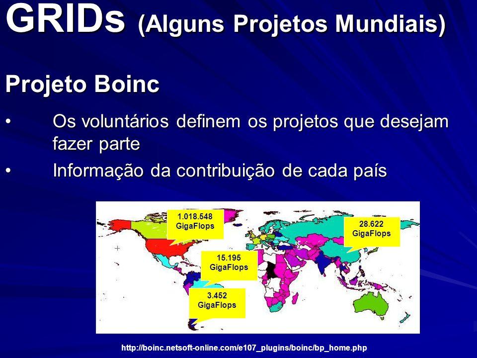 GRIDs (Alguns Projetos Mundiais)