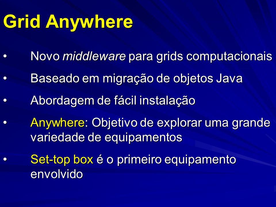 Grid Anywhere Novo middleware para grids computacionais