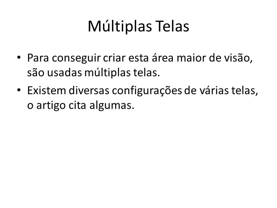 Múltiplas TelasPara conseguir criar esta área maior de visão, são usadas múltiplas telas.