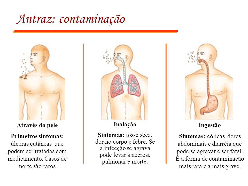 Antraz: contaminação Através da pele