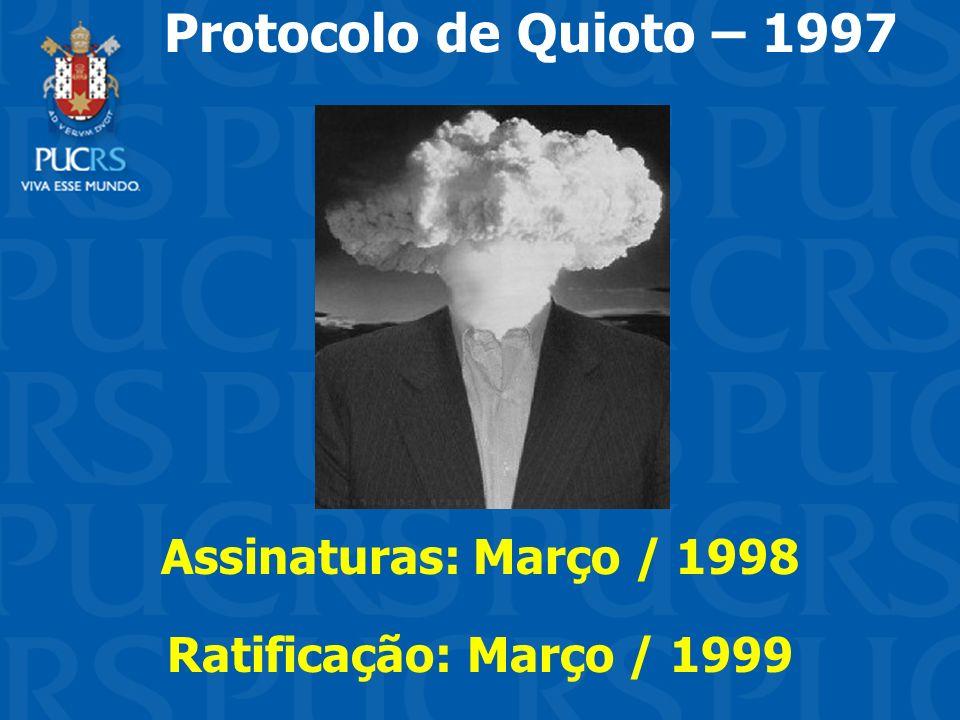 Assinaturas: Março / 1998 Ratificação: Março / 1999
